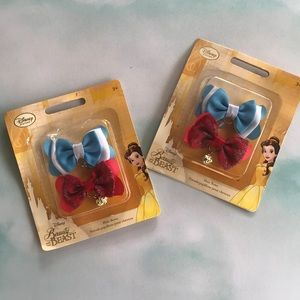 Beauty and the Beast Hair Bows